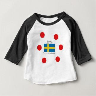 Sweden Gold 2018 - Women's 15km Skiathlon Baby T-Shirt