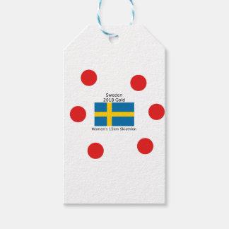 Sweden Gold 2018 - Women's 15km Skiathlon Gift Tags