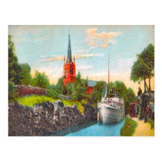 Sweden Gota canal, 1925 Postcard