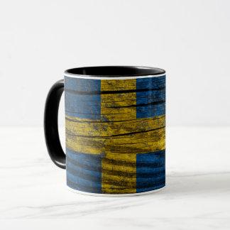 Sweden grunge flag mug