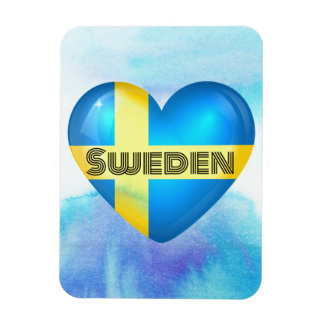 Sweden Heart Flag Flexible Magnet