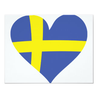 sweden heart icon card