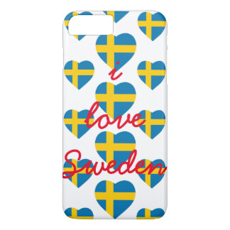 SWEDEN HEART SHAPE FLAG iPhone 8 PLUS/7 PLUS CASE