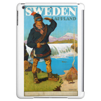 Sweden Lappland Vintage Travel Poster Restored iPad Air Case