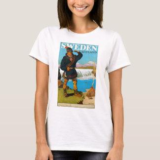 Sweden Lappland Vintage Travel Poster Restored T-Shirt