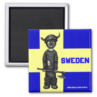 Sweden magnet with funny viking