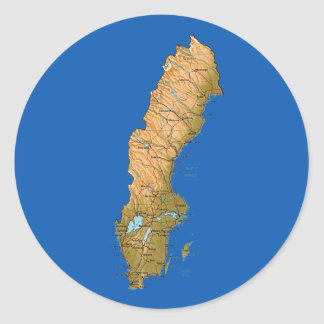 Sweden Map Sticker