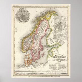 Sweden, Norway 2 Poster