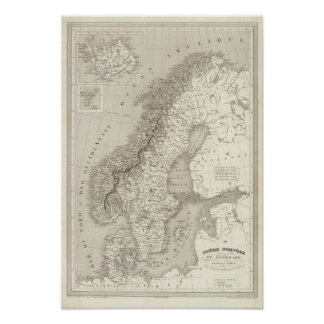 Sweden, Norway, and Denmark Poster