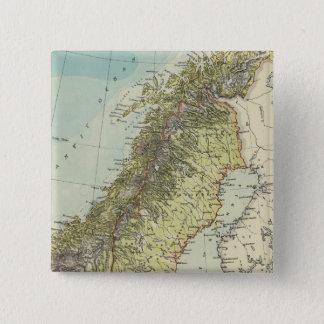 Sweden, Norway, Denmark 2 Inch Square Button