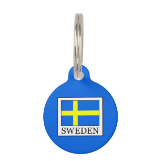 Sweden Pet Name Tag