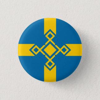 Sweden Rune Cross Badge 1 Inch Round Button