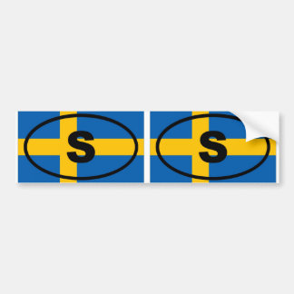 Sweden S European oval Bumper Sticker