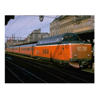 Sweden, SJ diesel push-pull trainset Postcard