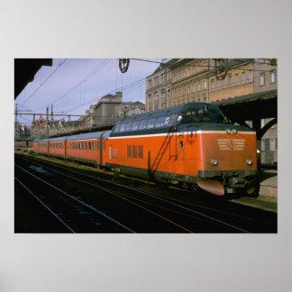 Sweden, SJ diesel push-pull trainset Poster