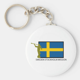 SWEDEN STOCKHOLM MISSION LDS CTR BASIC ROUND BUTTON KEYCHAIN