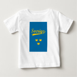 Sweden, Sverige, 3 crowns Baby T-Shirt