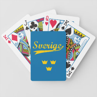 Sweden, Sverige, 3 crowns Bicycle Playing Cards