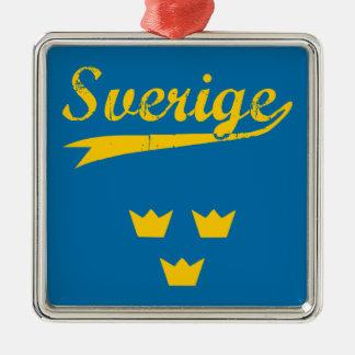 Sweden, Sverige, 3 crowns Metal Ornament