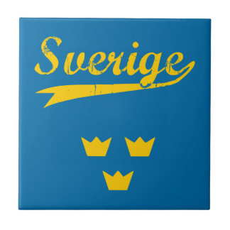 Sweden, Sverige, 3 crowns Tile
