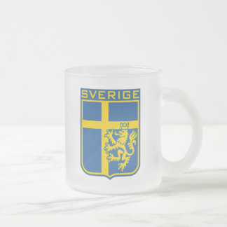 Sweden Sverige Frosted Glass Coffee Mug