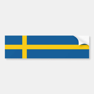 Sweden/Swede/Swedish Flag Bumper Sticker