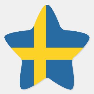 Sweden/Swede/Swedish Flag Star Sticker
