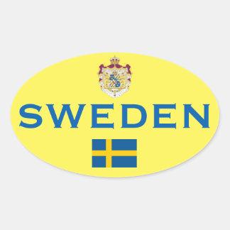 Sweden - Sweden Euro-Style Oval Sticker