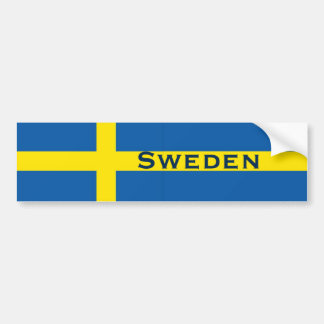 Sweden Swedish Flag Bumper Sticker