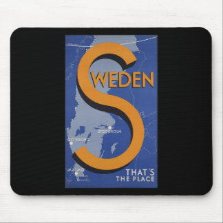 Sweden That's The Place Mouse Pad