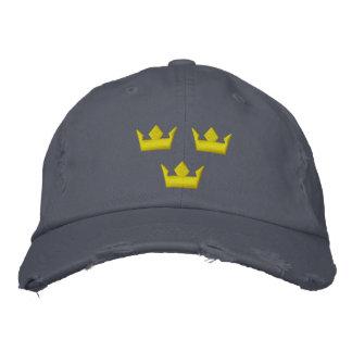 sweden tre kroner stitched hats