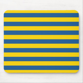 Sweden Ukraine flag stripes lines pattern blue yel Mouse Pad