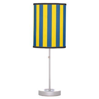 Sweden Ukraine flag stripes lines pattern blue yel Table Lamp