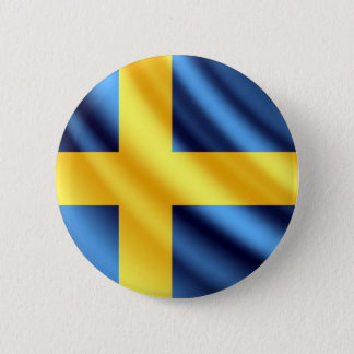 Sweden waving flag pinback button