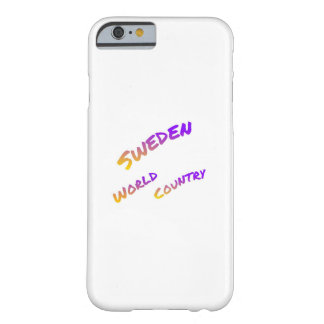 Sweden world country, colorful text art barely there iPhone 6 case