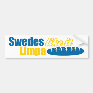 Swedes Like it Limpa Funny Bumper Sticker
