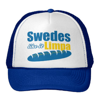 Swedes Like it Limpa Funny Mesh Hats