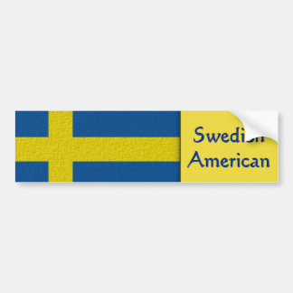 Swedish American Bumper Sticker