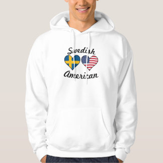 Swedish American Flag Hearts Hoodie