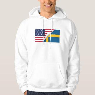 Swedish American Flag Hoodie