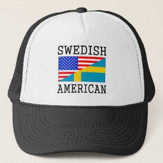 Swedish American Flag Trucker Hat