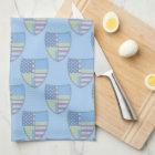 Swedish-American Shield Flag Kitchen Towel