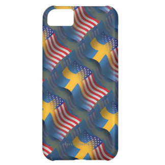 Swedish-American Waving Flag iPhone 5C Cover