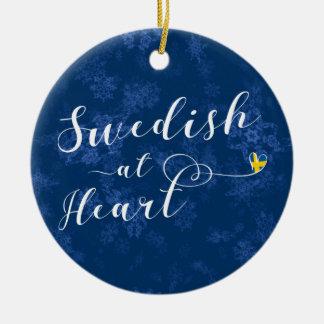 Swedish At Heart Holiday Decoration, Sweden Ceramic Ornament