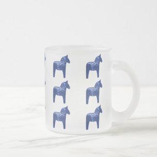 Swedish Blue Dala Horse Pattern Mug