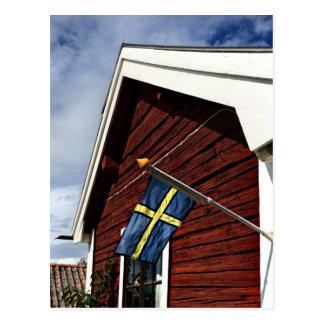 Swedish buzzer house postcard