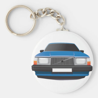 Swedish Classic Car from 80's - 90's Keychain