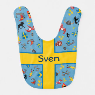 Swedish culture items with flag bib