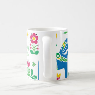 Swedish Dala Horse floral folk pattern Coffee Mug