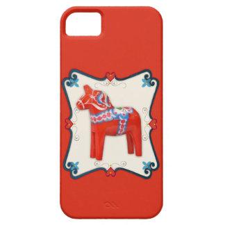 Swedish Dala Horse Folk Art Framed Case For The iPhone 5